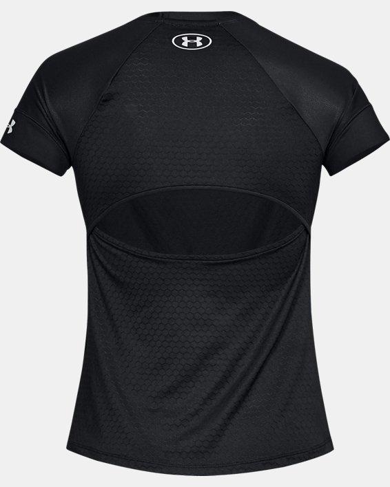 Women's UA HexDelta Short Sleeve, Black, pdpMainDesktop image number 4