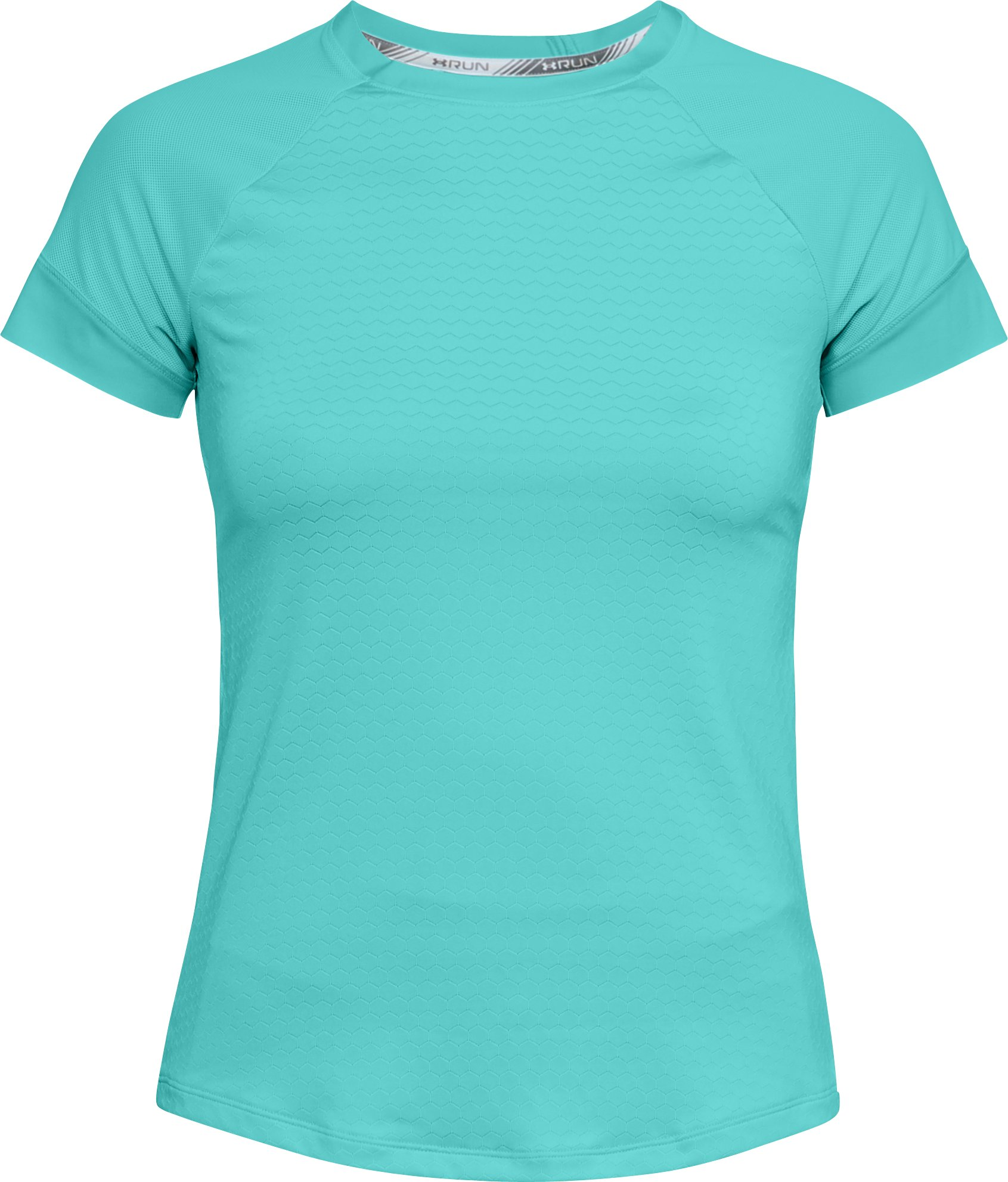 Women's UA HexDelta Short Sleeve, TROPICAL TIDE,