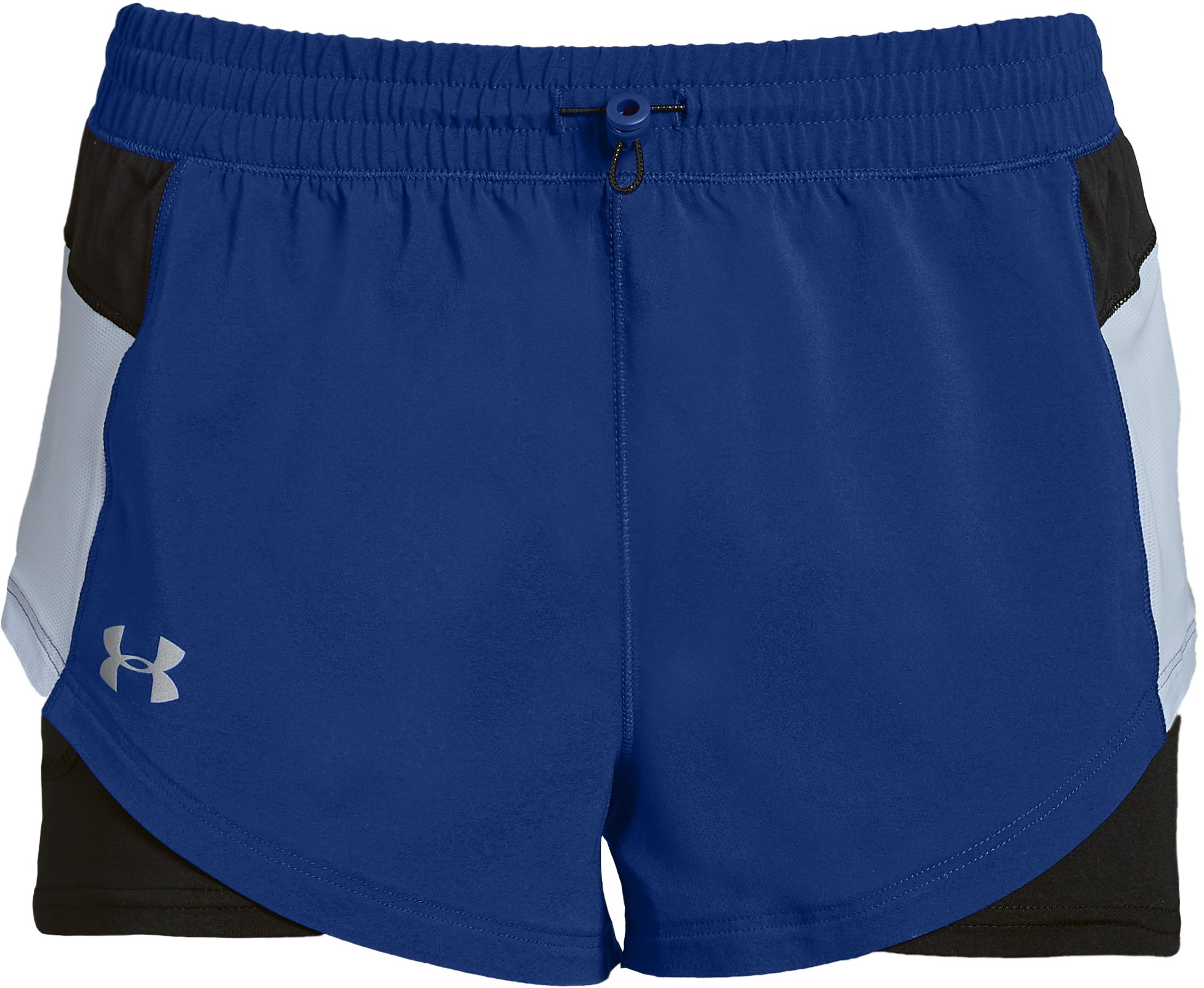 Women's UA Stretch Woven 2-in-1 Run Shorts, FORMATION BLUE,