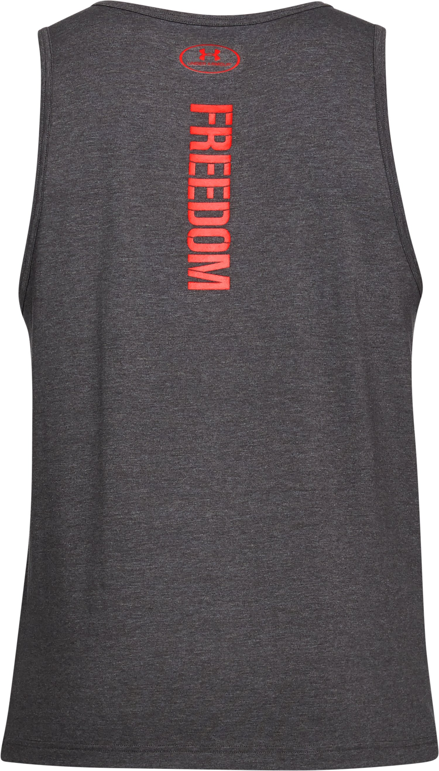 Men's UA Freedom Eagle Tank, CHARCOAL MEDIUM HEATHER, undefined