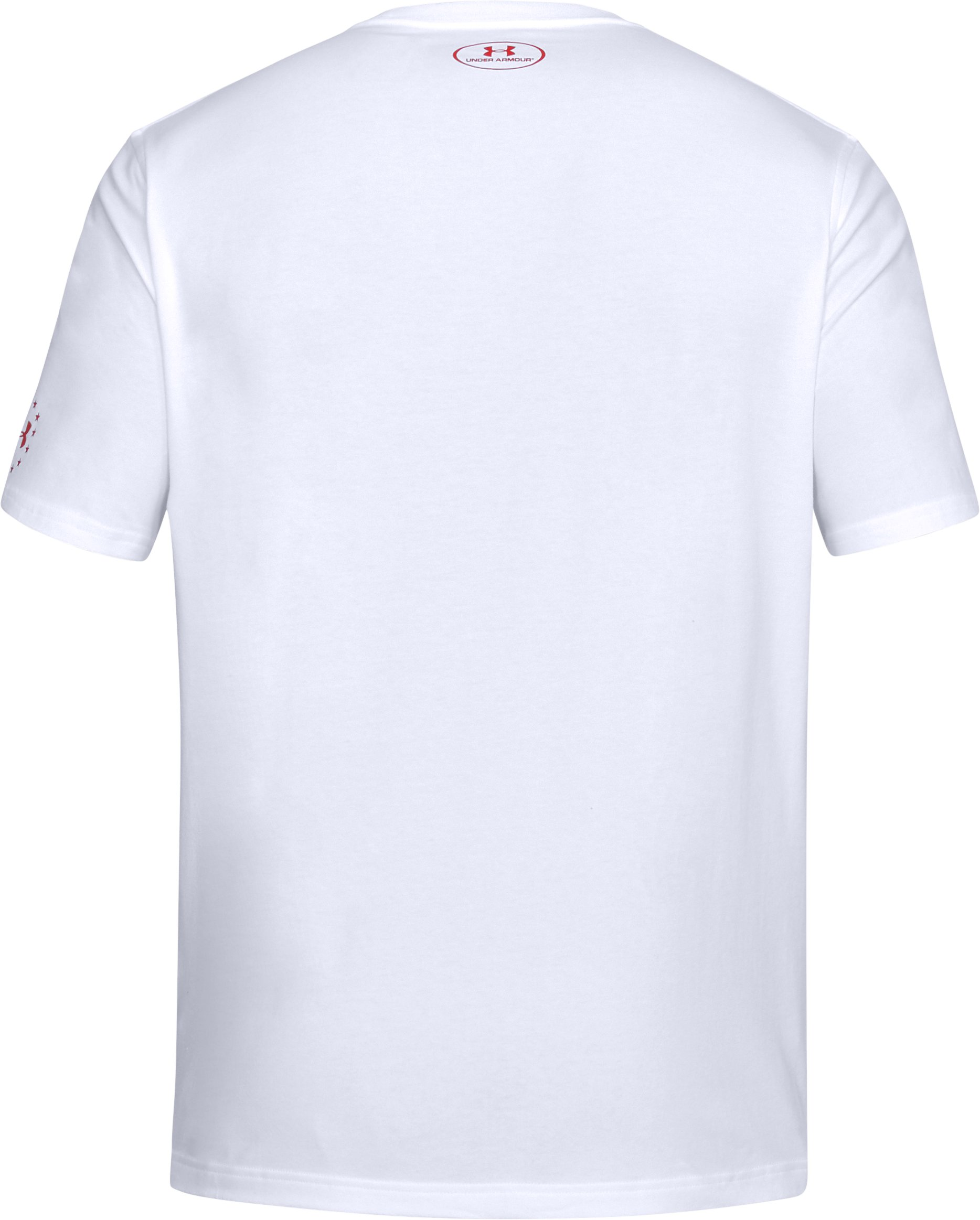 Men's UA Freedom Chest Lines T-Shirt, White,