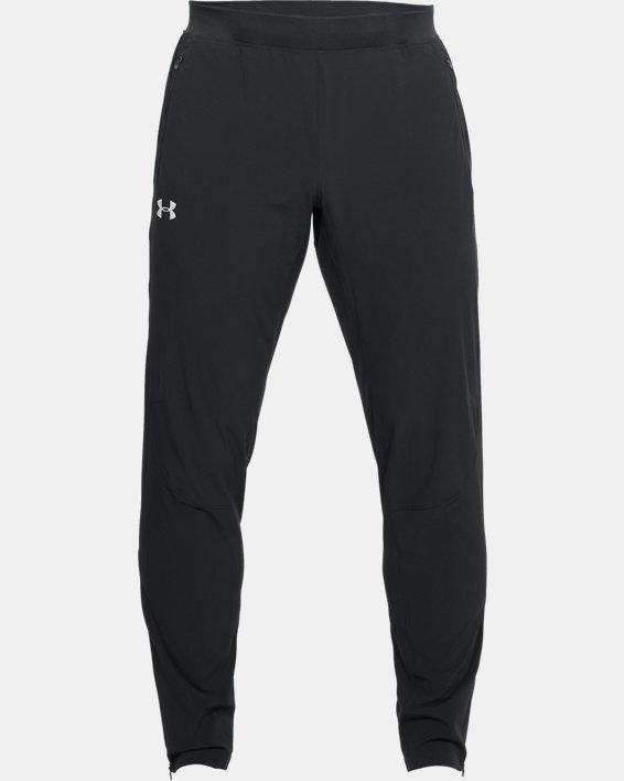Men's UA Outrun The Storm Pants, Black, pdpMainDesktop image number 3
