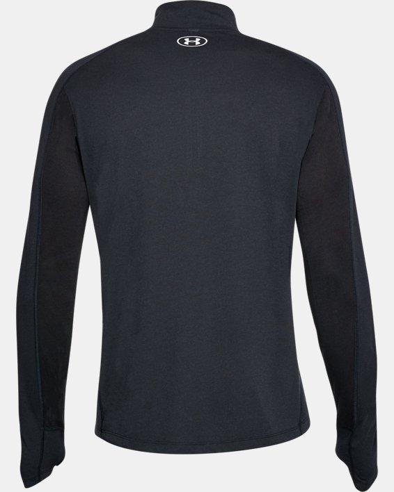 Maillot UA Swift ¼ Zip pour homme, Black, pdpMainDesktop image number 4