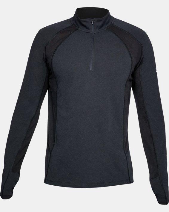 Maillot UA Swift ¼ Zip pour homme, Black, pdpMainDesktop image number 3
