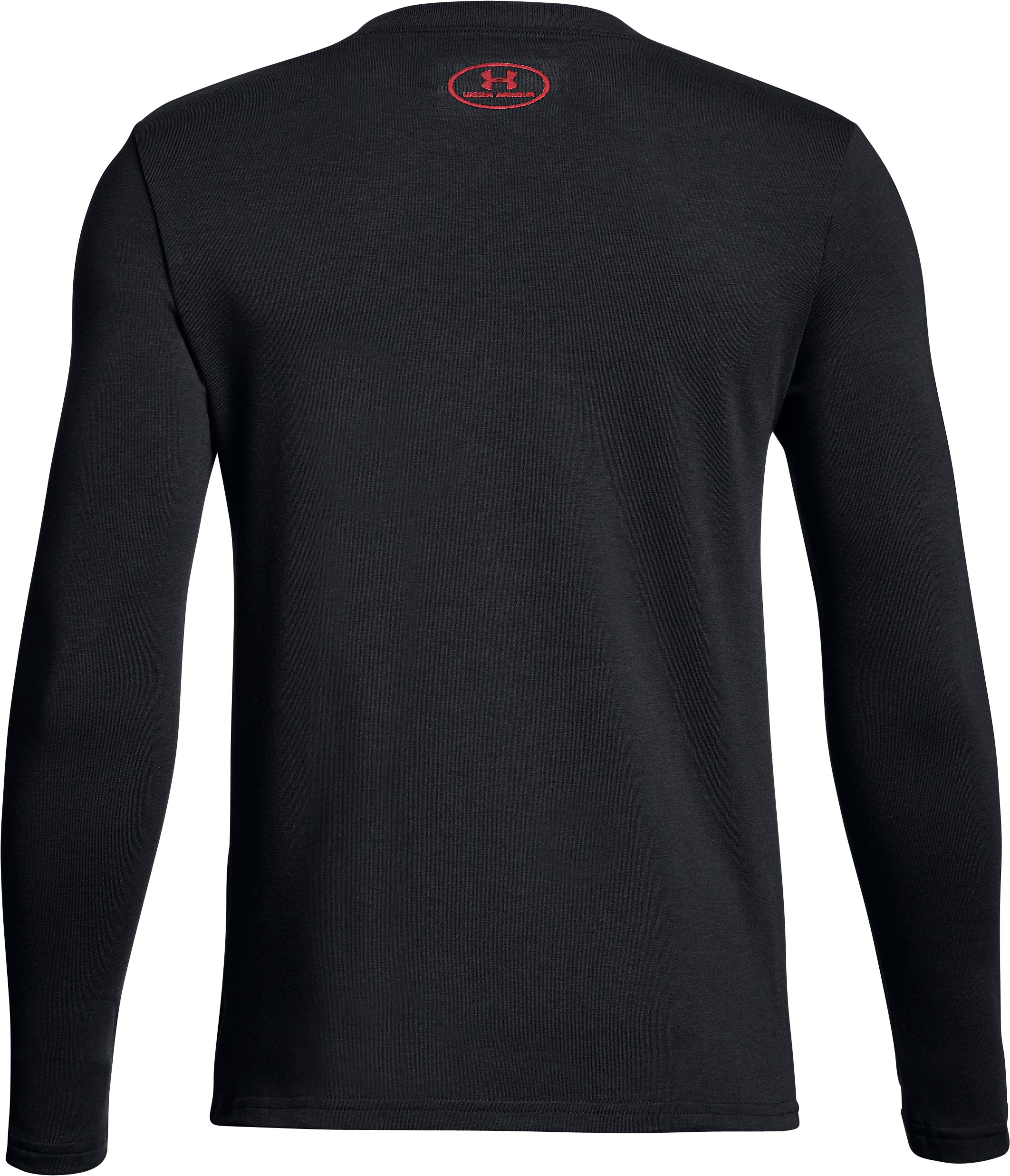 Boys' UA Halftone Branded Long Sleeve, Black , undefined