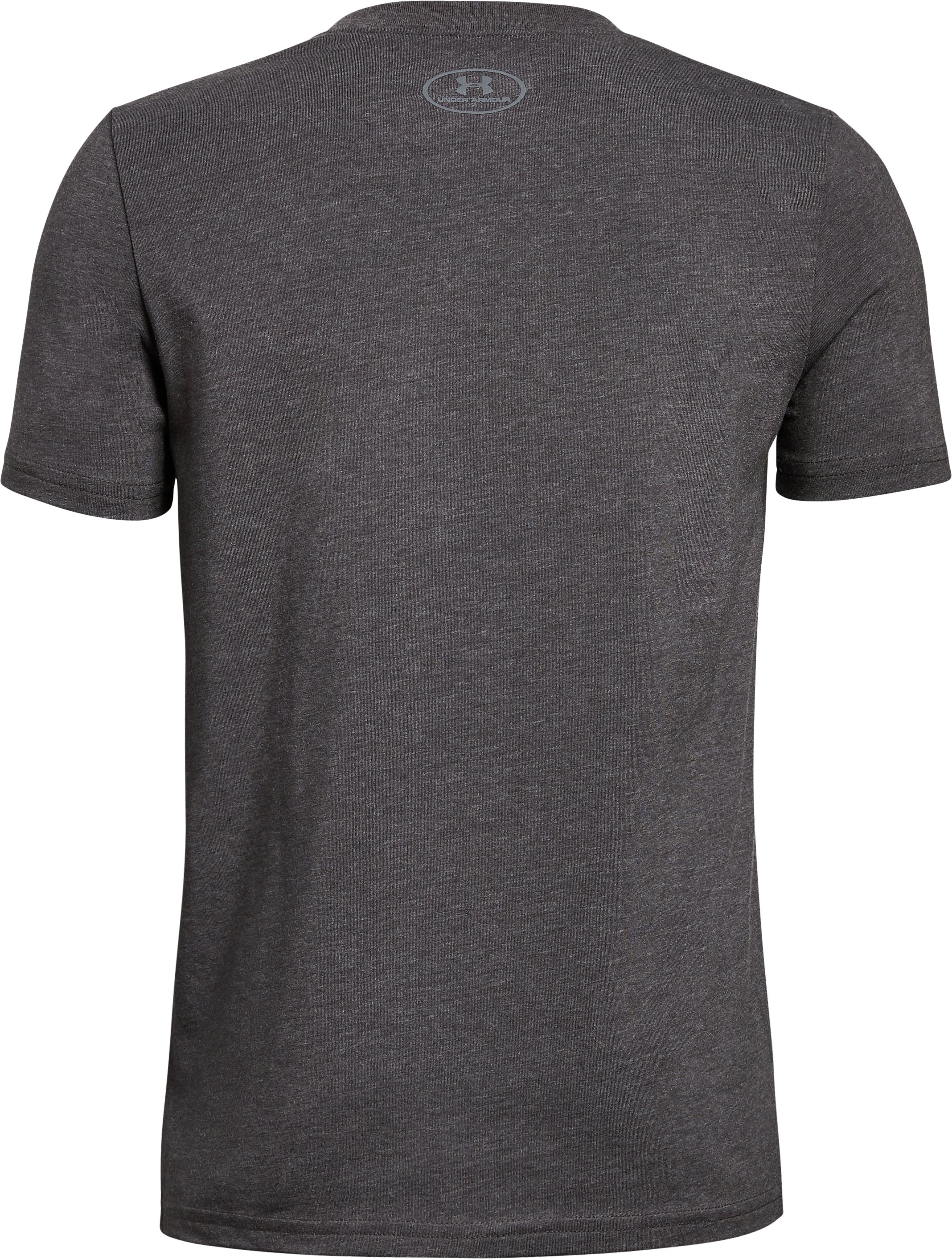 Boys' UA Horizon Logo T-Shirt, CHARCOAL MEDIUM HEATHER,
