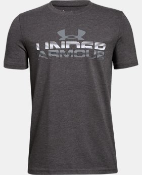 Boys' UA Horizon Logo T-Shirt  1 Color $25