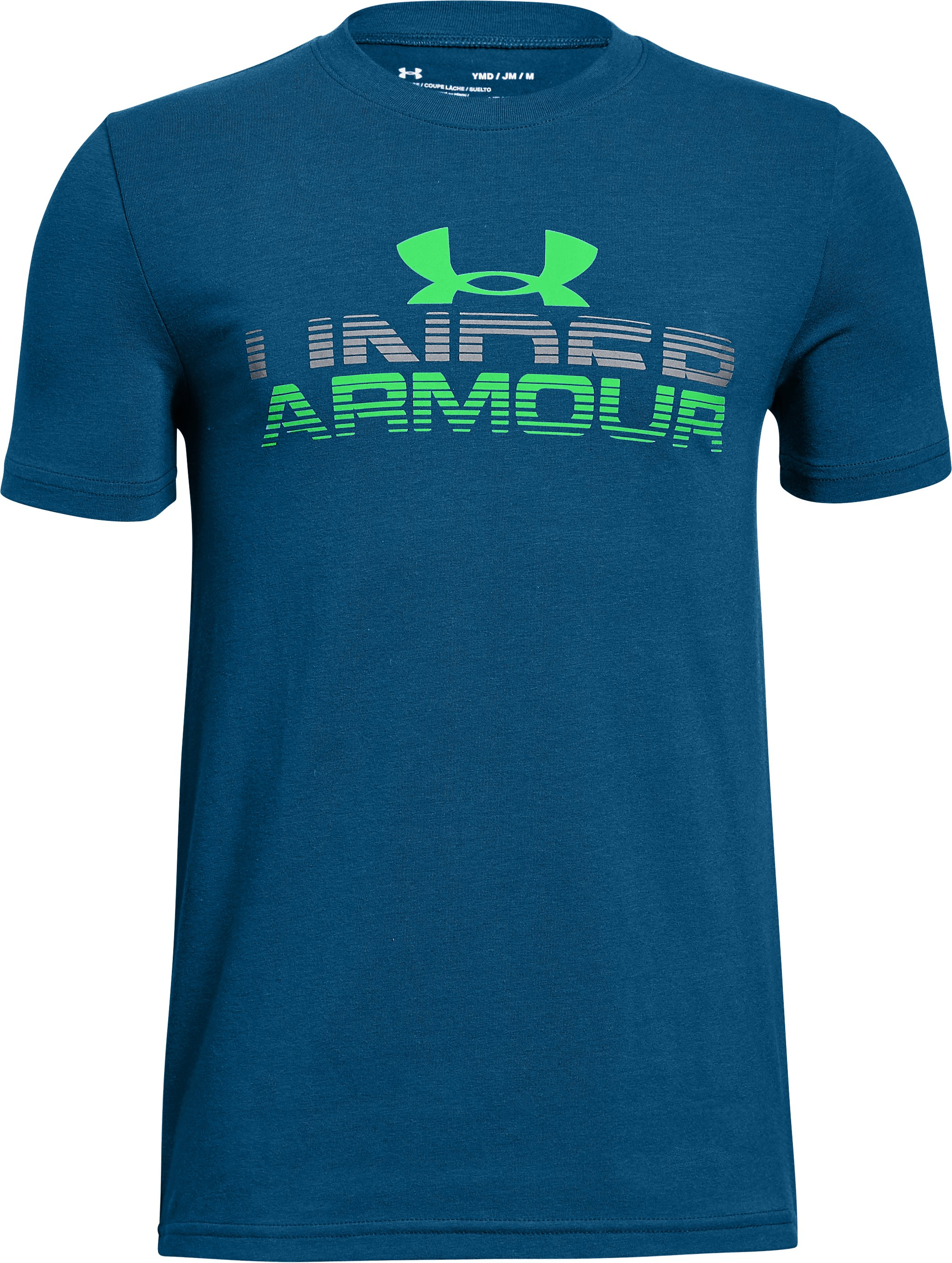Boys' UA Horizon Logo T-Shirt, MOROCCAN BLUE,