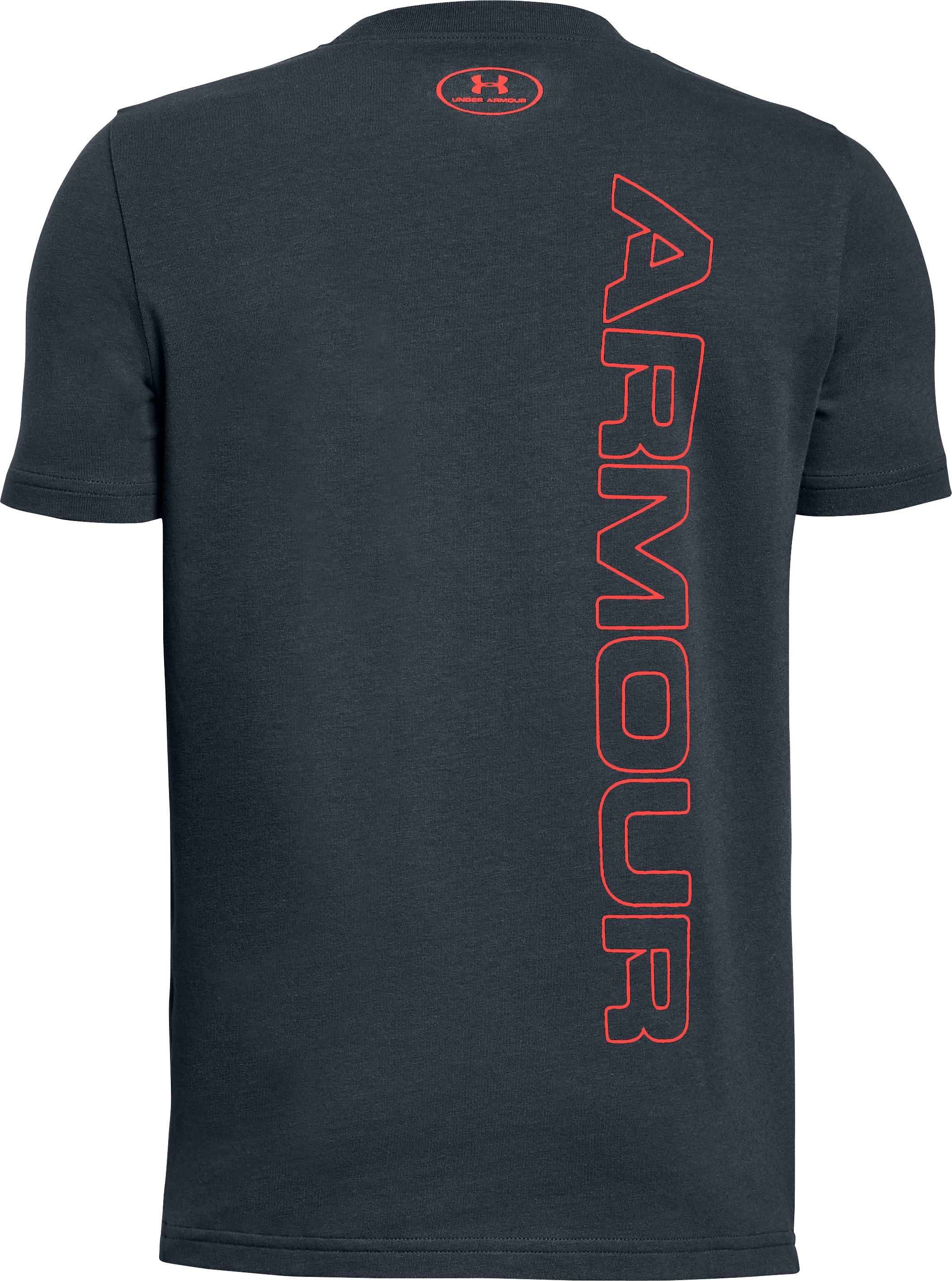 Boys' UA Front To Back T-Shirt, STEALTH GRAY, undefined