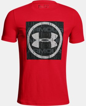 Boys' UA Visualogo T-Shirt FREE U.S. SHIPPING 4  Colors Available $25