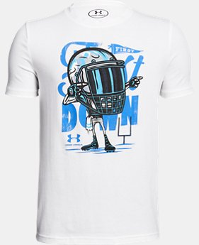 New Arrival Boys' UA First Down T-Shirt  1 Color $20