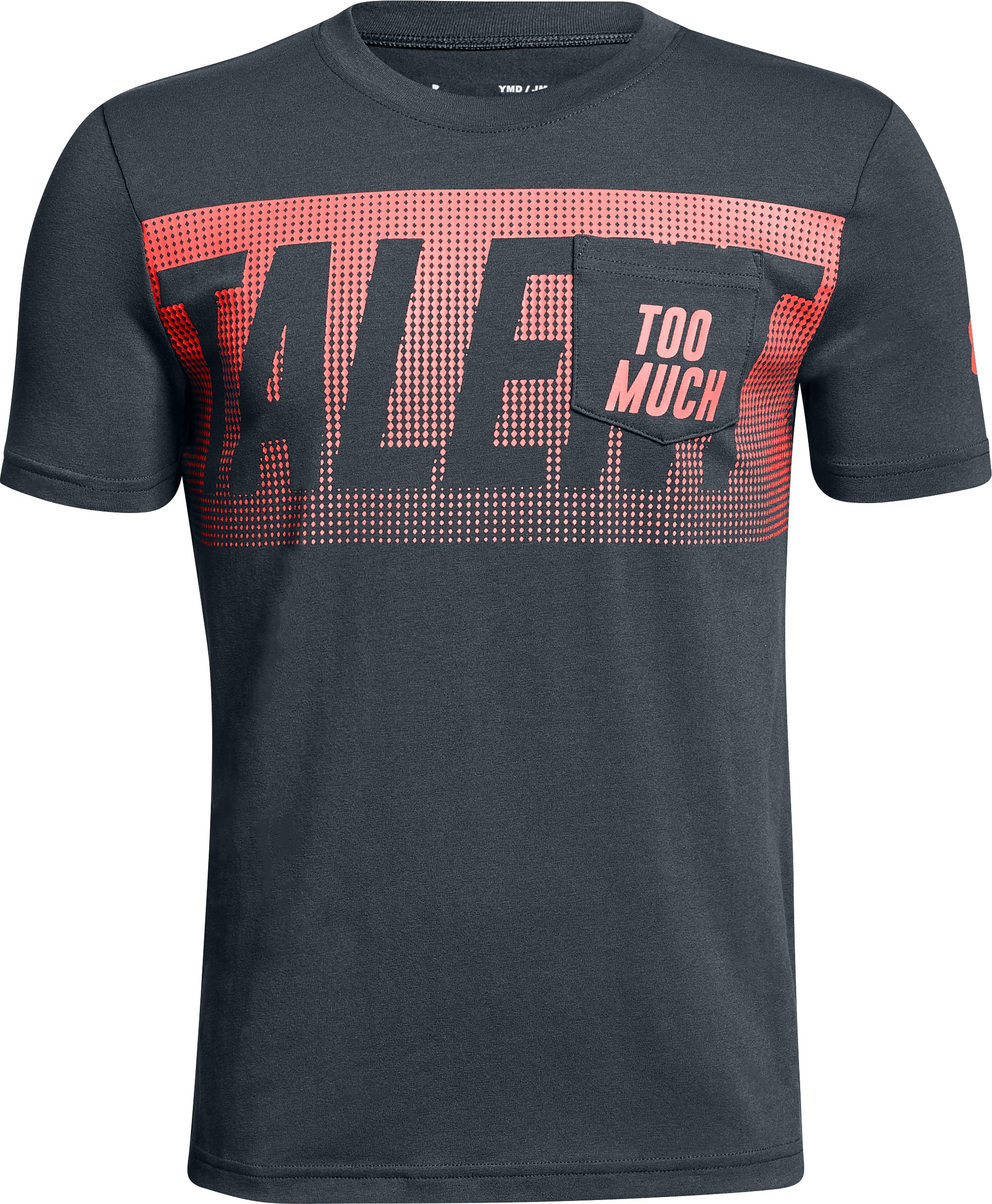 Boys' UA Too Much Talent T-Shirt, STEALTH GRAY, undefined