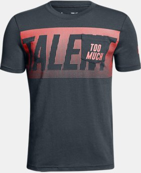 New Arrival Boys' UA Too Much Talent T-Shirt  2 Colors $25
