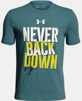 Boys' UA Never Back Down T-Shirt  2  Colors $20