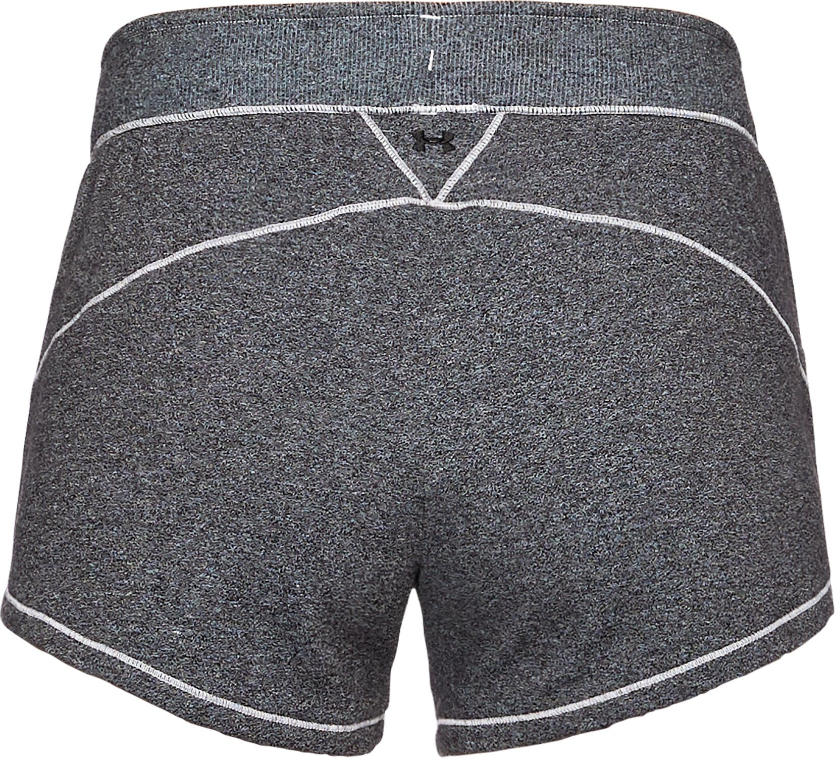 Women's UA Freedom Microthread Shorts, BLACK MEDIUM HEATHER,