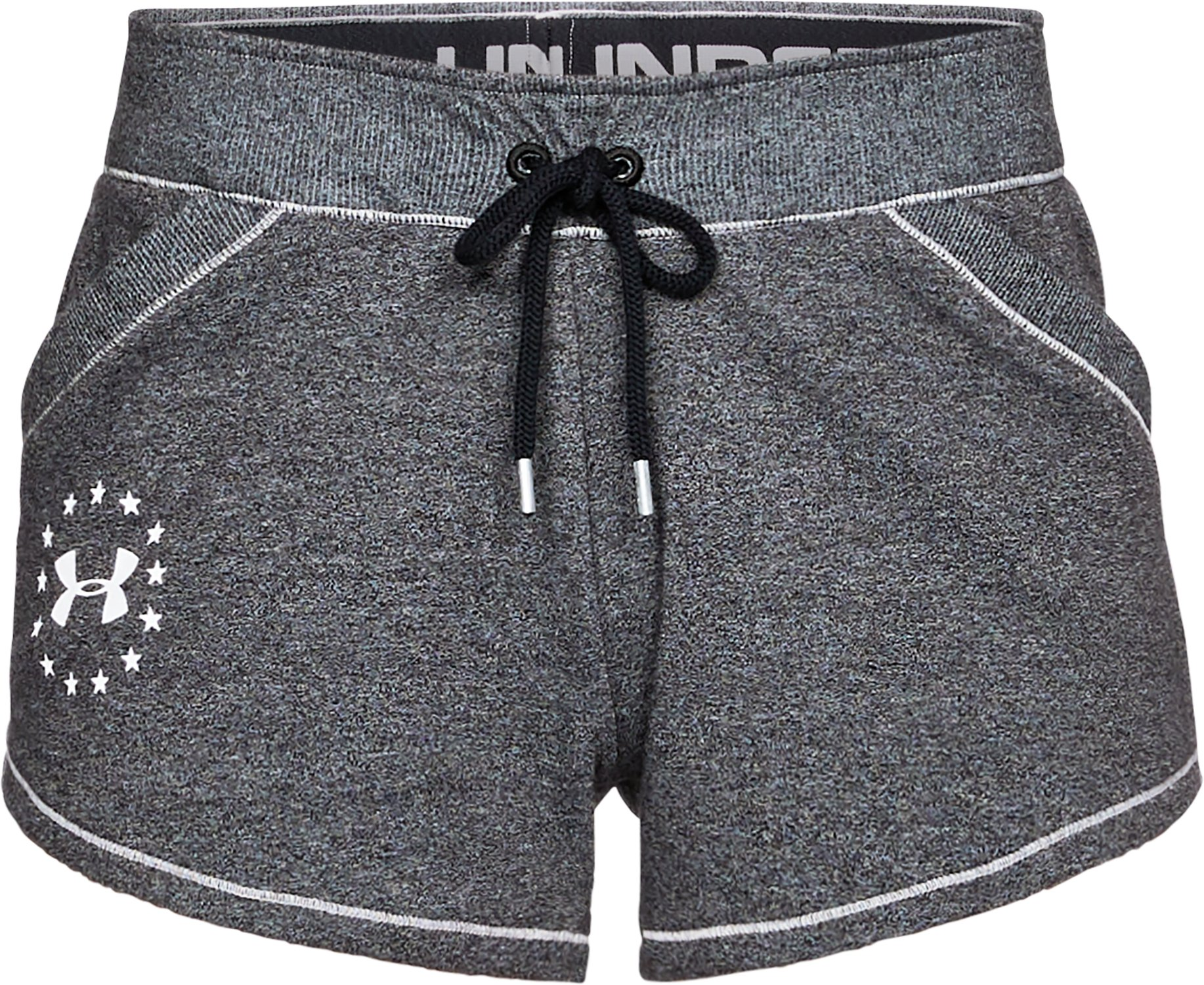 Women's UA Freedom Microthread Shorts, BLACK MEDIUM HEATHER, undefined