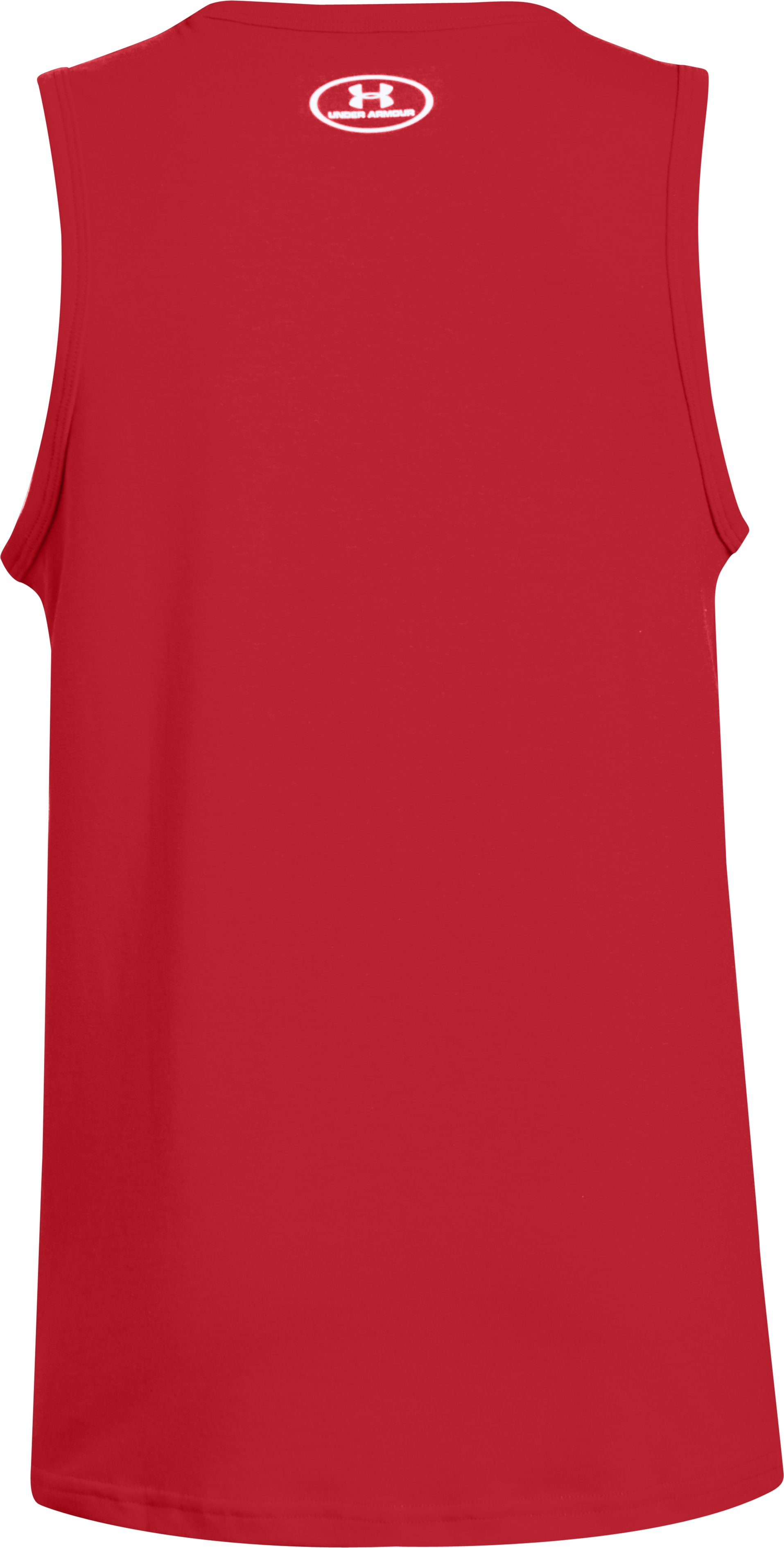 Boys' UA Athlete Tank, Red, undefined