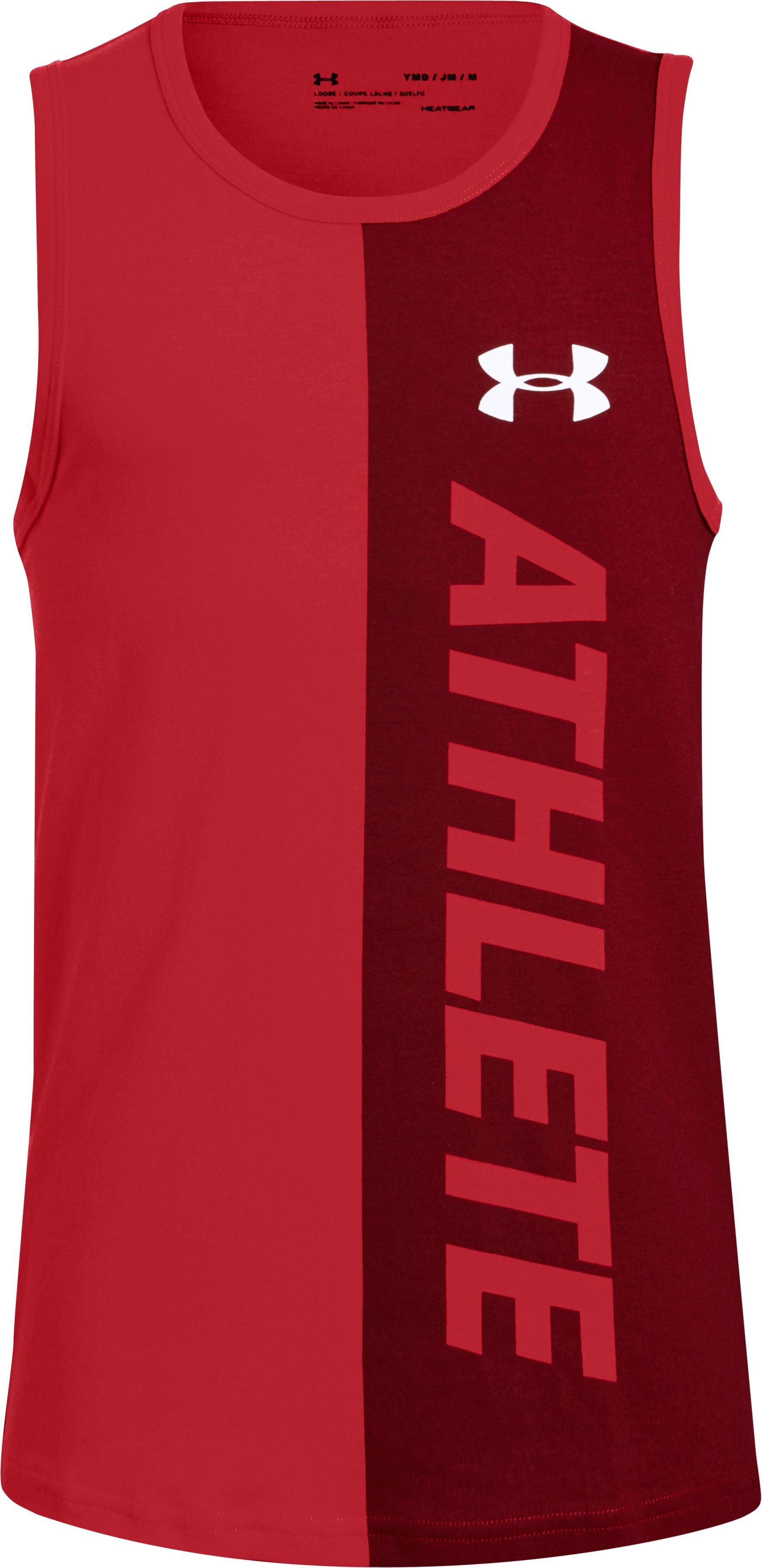 Boys' UA Athlete Tank, Red