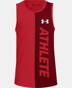 Boys' UA Athlete Tank LIMITED TIME: FREE U.S. SHIPPING 1  Color Available $20