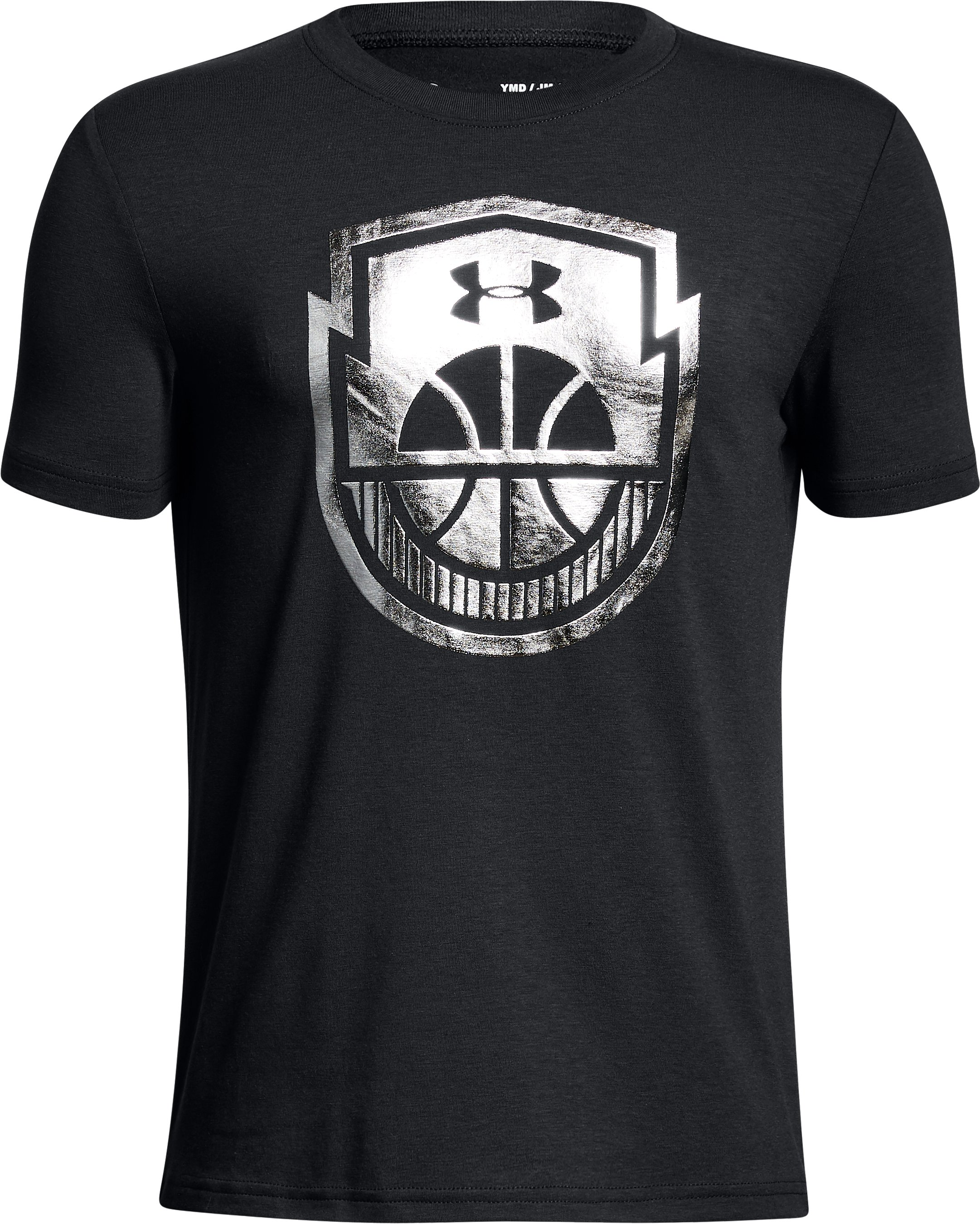 Boys' UA Basketball Icon T-Shirt, Black