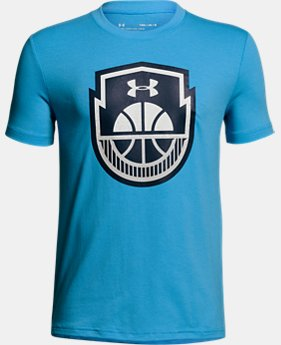 Boys' UA Basketball Icon T-Shirt FREE U.S. SHIPPING 5  Colors Available $20