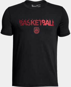 Boys' UA Vertical Logo  T-Shirt  1  Color $25