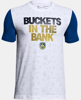 New Arrival Boys' UA Buckets In The Bank T-Shirt  1 Color $28