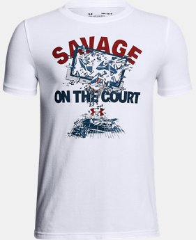 Boys' UA Savage On The Court T-Shirt  1 Color $20