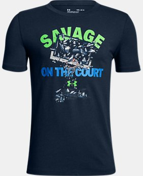 New Arrival Boys' UA Savage On The Court T-Shirt  1 Color $20