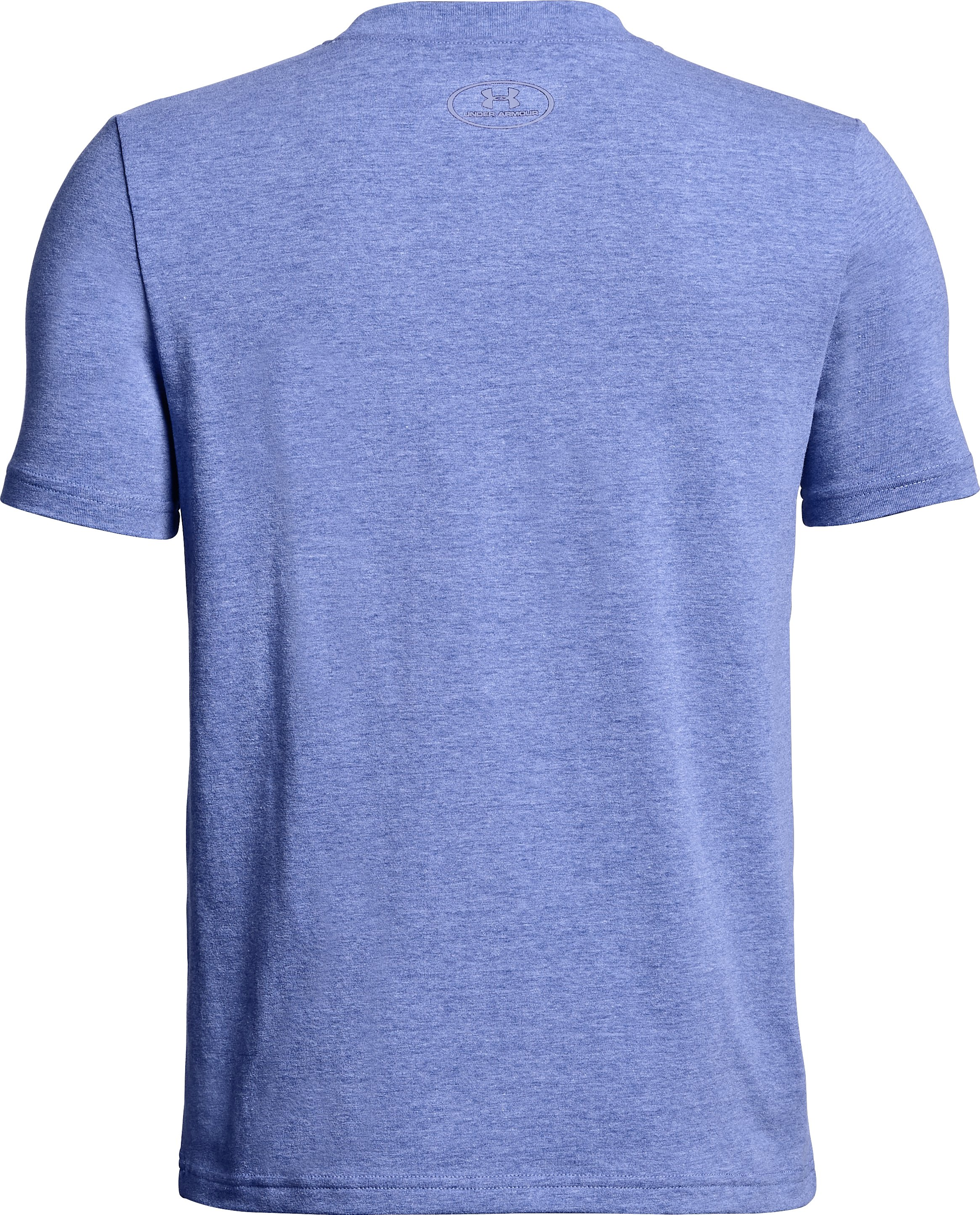 Boys' UA Bball Reflective T-Shirt, FORMATION BLUE LIGHT HEATHER, undefined