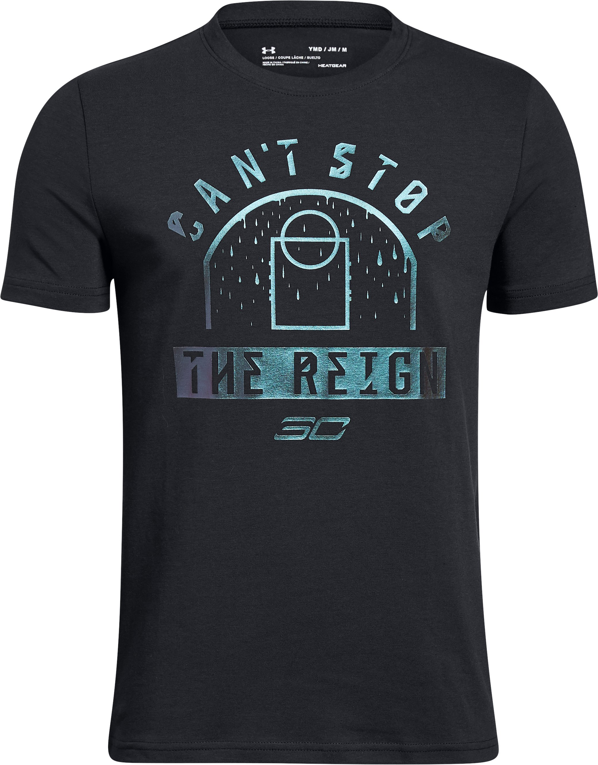 Boys' SC30 The Reign T-Shirt, Black ,