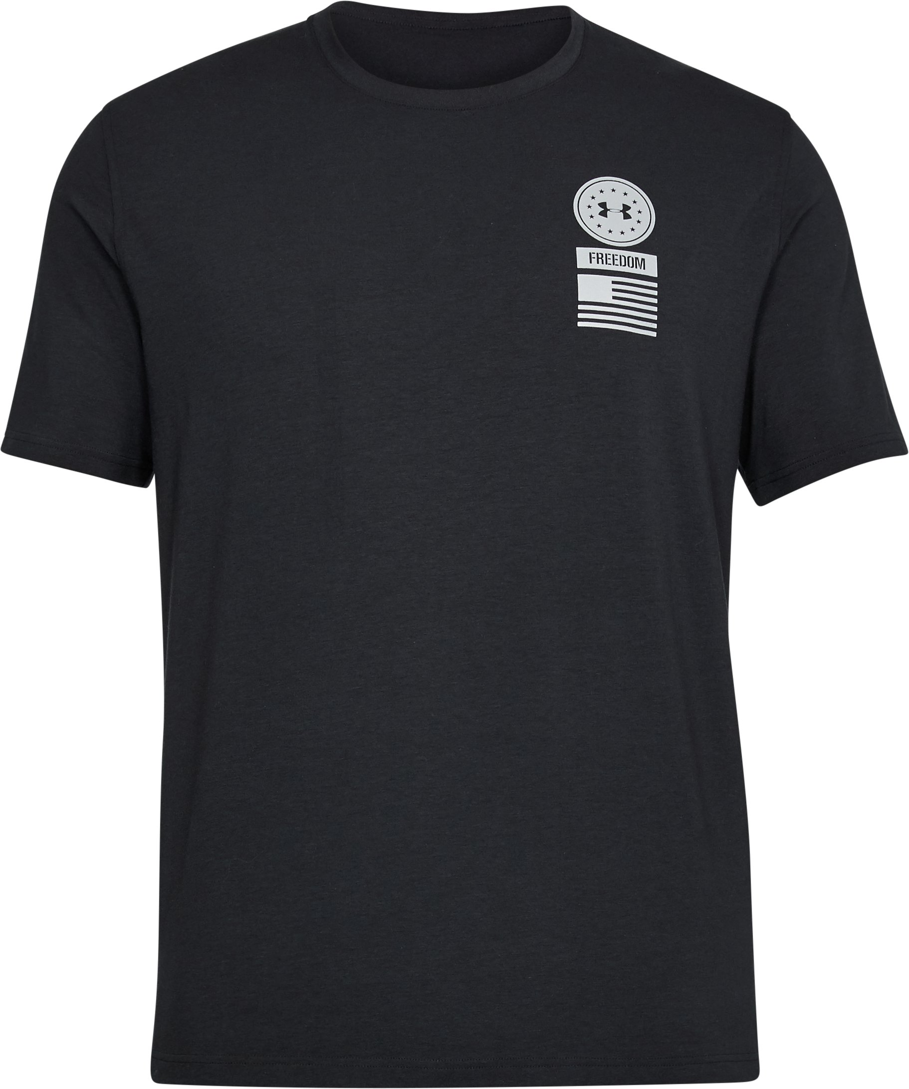 Men's UA Tac Aces & Eights T-Shirt, Black ,