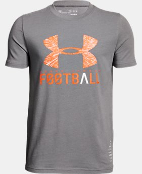 Boys' UA Football Lockup T-Shirt  1  Color $20