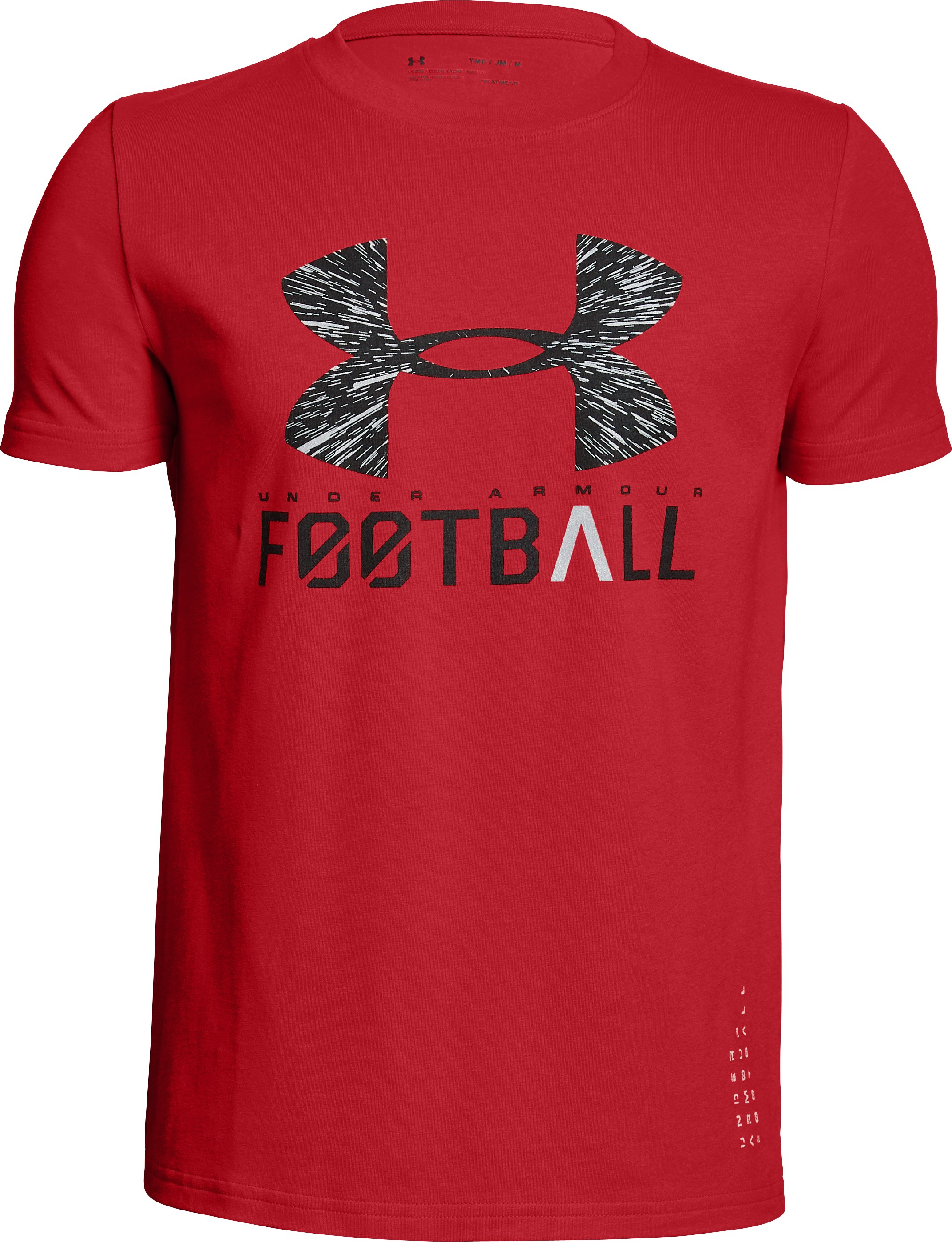 Boys' UA Football Lockup T-Shirt, Red,
