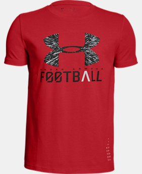 Boys' UA Football Lockup T-Shirt  2  Colors $20