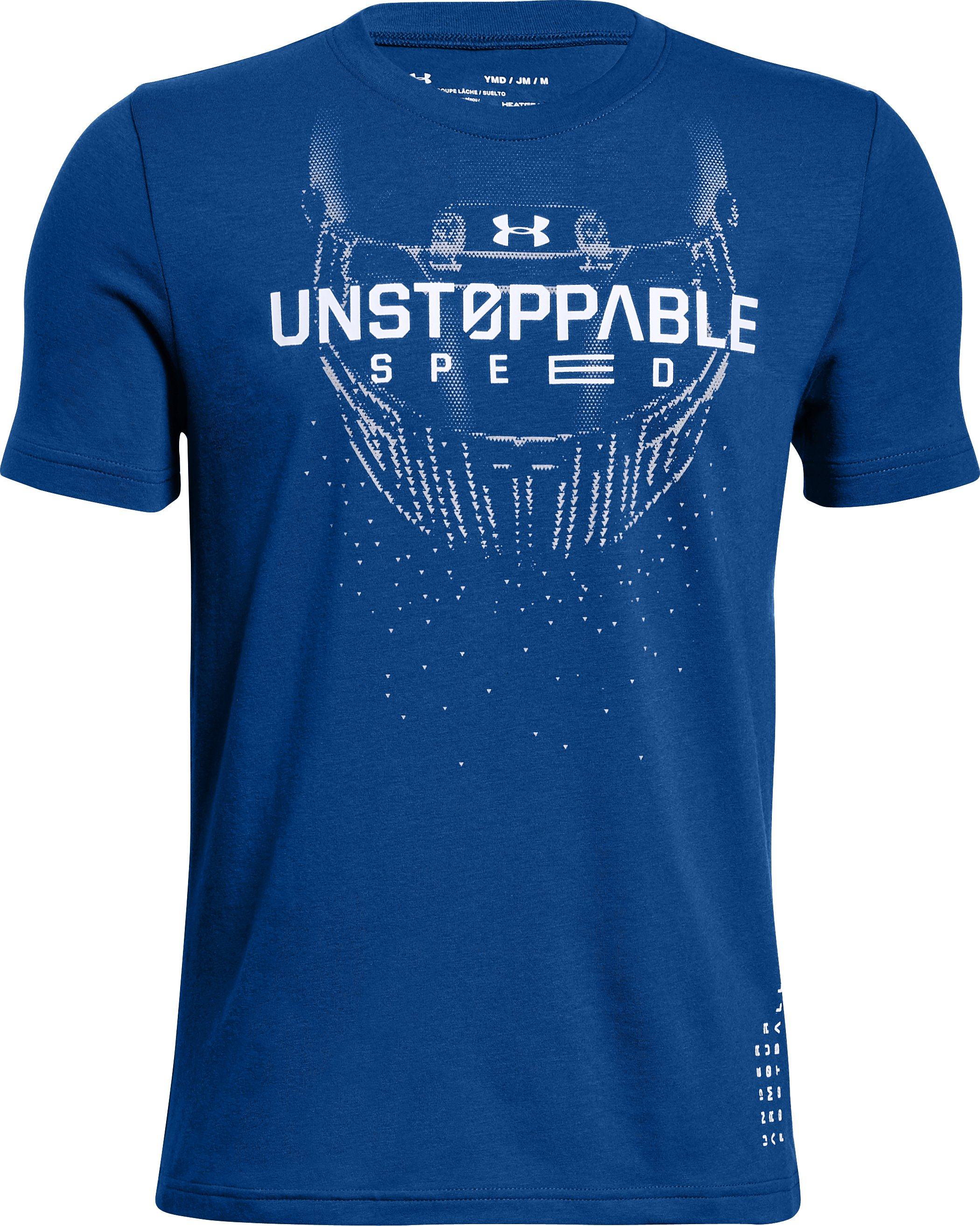 Boys' UA Unstoppable Speed T-Shirt, Royal,