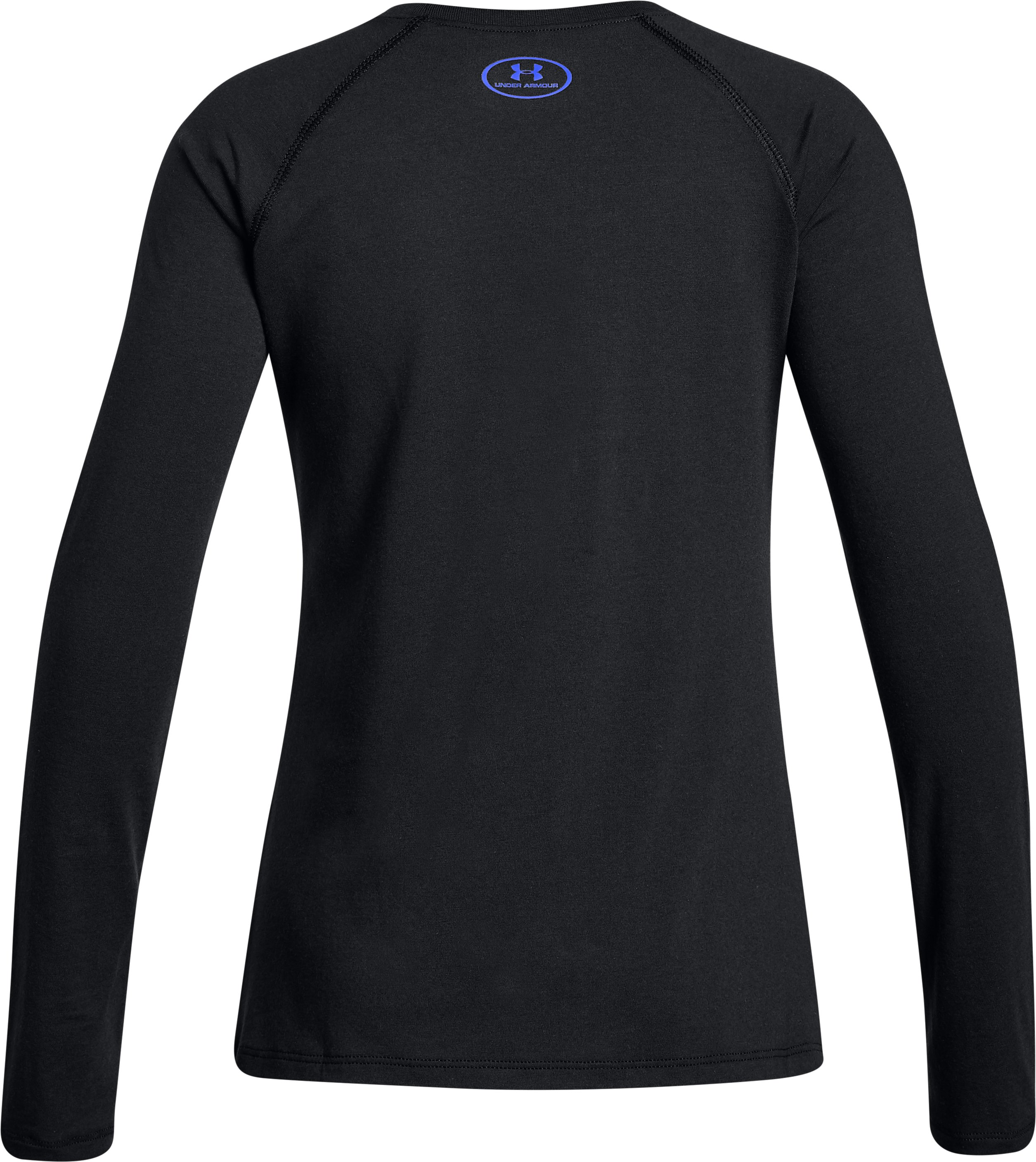 Girls' UA Cross Branded Long Sleeve, Black ,