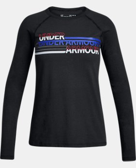 New Arrival  Girls' UA Cross Branded Long Sleeve  1 Color $30