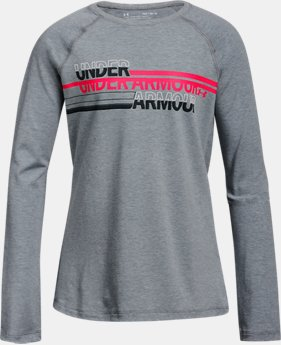 New Arrival Girls' UA Cross Branded Long Sleeve  1 Color $25