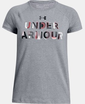 Girls' UA Asymmetric Branded T-Shirt  1 Color $20
