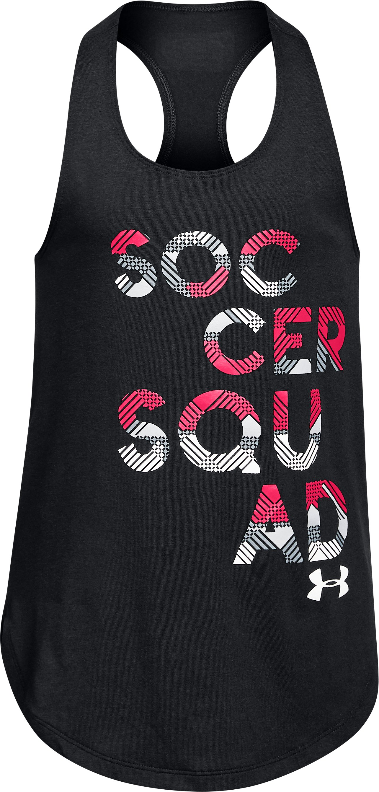 Girls' UA Soccer Squad Tank, Black ,