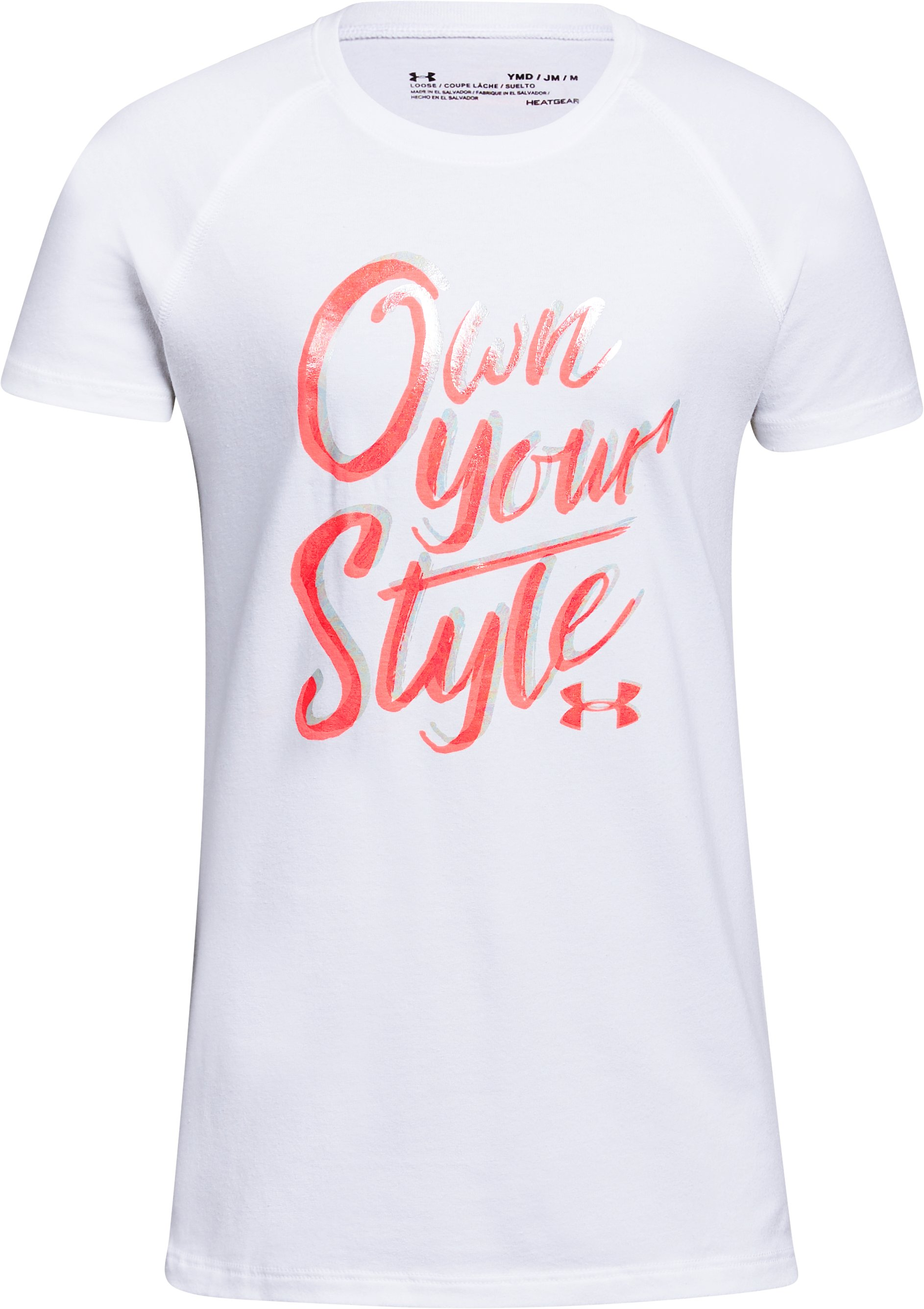 Girls' UA Own Your Style T-Shirt, White, undefined