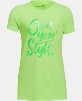 New Arrival Girls' UA Own Your Style T-Shirt  2 Colors $20
