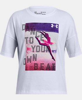 New Arrival Girls' UA Dance To Your Own Beat T-Shirt  1 Color $20