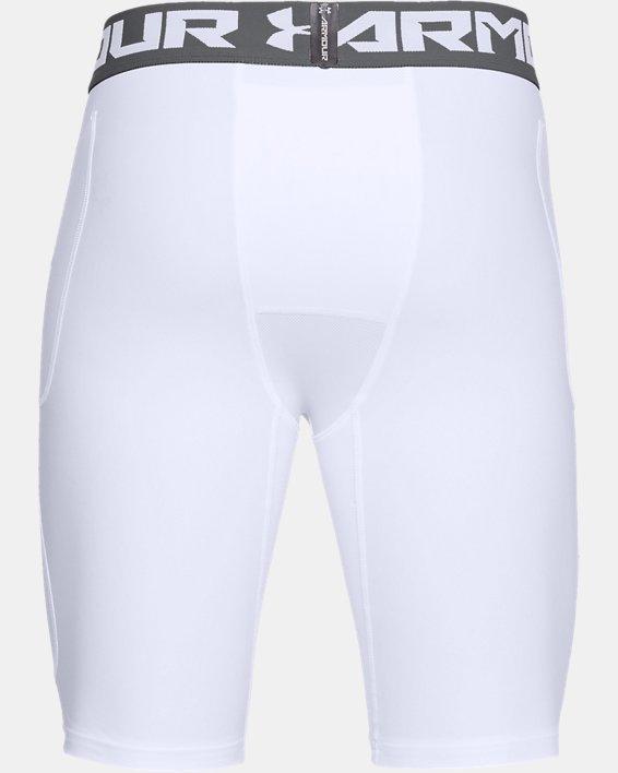 Men's UA Football 6-Pocket Girdle, White, pdpMainDesktop image number 4