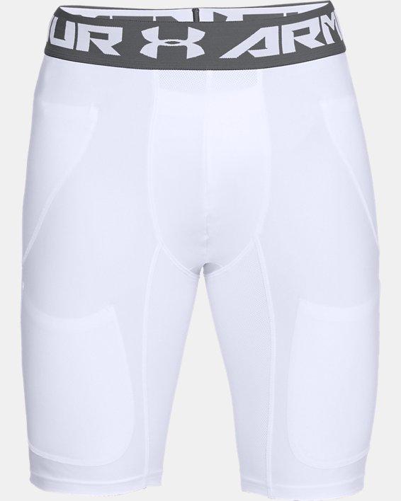 Men's UA Football 6-Pocket Girdle, White, pdpMainDesktop image number 3
