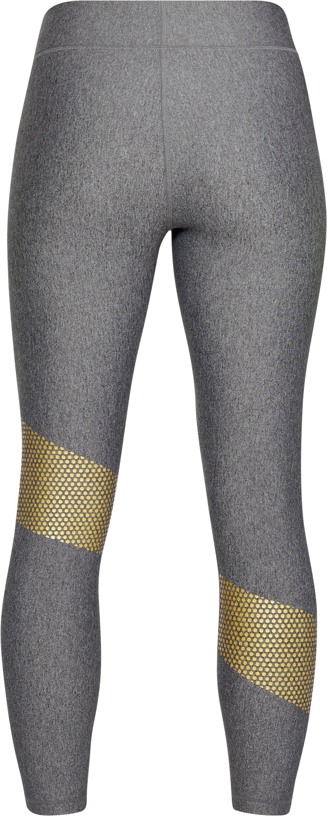 Women's HeatGear® Armour Graphic Ankle Crop, CHARCOAL LIGHT HEATHER,