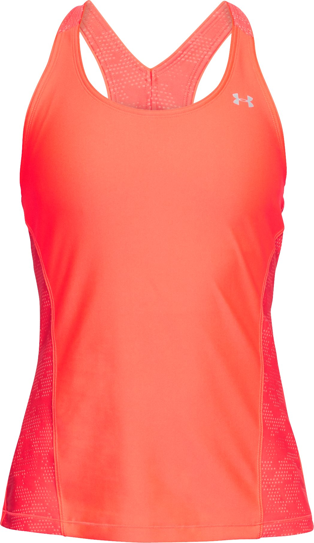 Women's HeatGear® Armour Fashion Tank, NEON CORAL, undefined