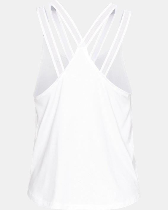 Women's UA Armour Sport Strappy Tank, White, pdpMainDesktop image number 4