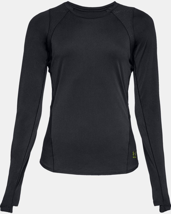 Women's UA Perpetual Long Sleeve, Black, pdpMainDesktop image number 4
